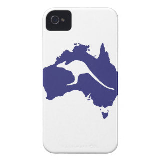 Australien-Karte mit Känguru-Silhouette iPhone 4 Case-Mate Hüllen