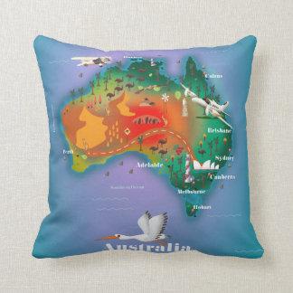 Australien-Karten-Reiseplakat Kissen