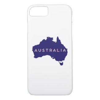 Australien-Land-Silhouette iPhone 7 Hülle
