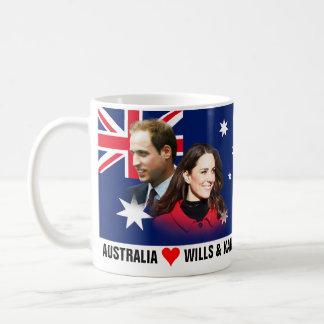 Australien-Lieben William u. Kate Tasse