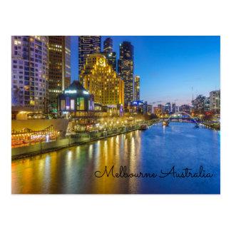 Australien Melbourne yarra Fluss Postkarte