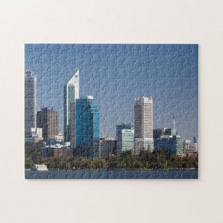 Australien, Perth, Stadt-Skyline vom Schwan-Fluss Jigsaw Puzzles