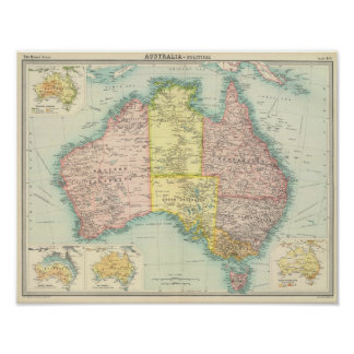 Australien politisch poster