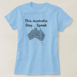 Australien-Tag - einheimische Sprachen T-Shirt