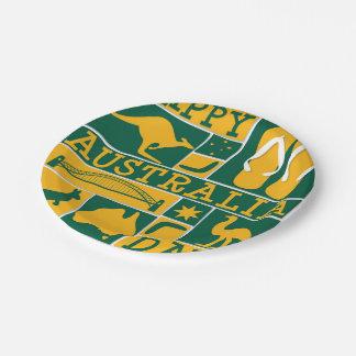 Australien-Tag Pappteller 17,8 Cm