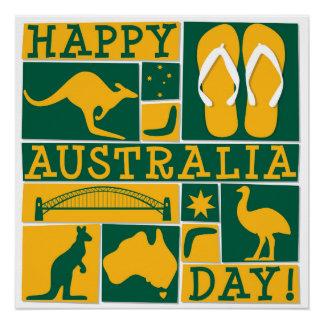 Australien-Tag Poster