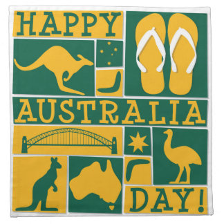 Australien-Tag Stoff Serviette