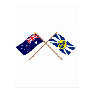 Australien und Lord Howe Island Crossed Flags Postkarte