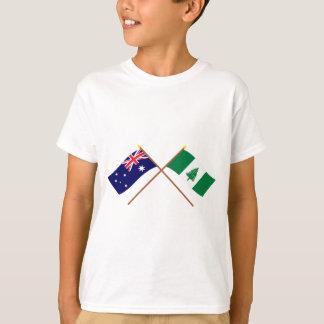 Australien- und Norfolk-Insel-gekreuzte Flaggen T-Shirt