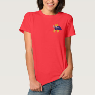Australisch - stützen Sie unsere Truppen Besticktes T-Shirt