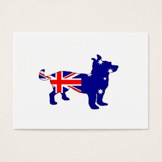 Australische Flagge - Chihuahua Visitenkarte