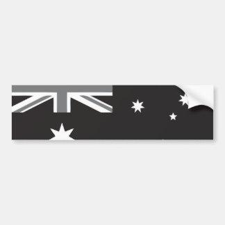 Australische Flagge Schwarzweiss Autoaufkleber
