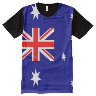 Australische Flagge voll T-Shirt Mit Bedruckbarer Vorderseite