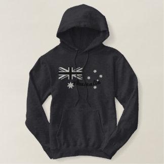 Australische Rocker-Flaggen-Stickerei Bestickter Hoodie