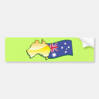 Australischer Flaggen- und Kartenaustralier Autoaufkleber