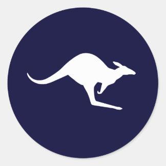 Australischer Känguru (Satz von 6/20) Runder Aufkleber
