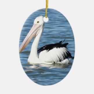 Australischer Pelikan Ovales Keramik Ornament