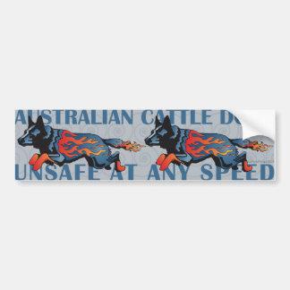 Australischer Vieh-Hund - unsicher mit irgendeiner Autoaufkleber