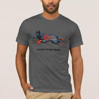 Australischer Vieh-Hund - unsicher mit irgendeiner T-Shirt
