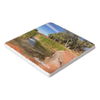 Australisches Hinterlandstein trivet Töpfeuntersetzer