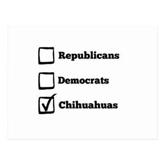 Auswahl-Chihuahua! Politische Wahl-Chihuahua Postkarte