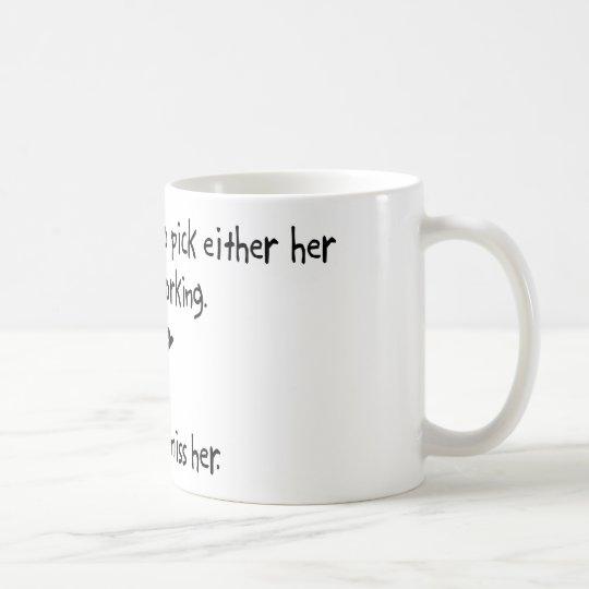 Auswahl-Ehefrau oder Holzbearbeitung Tasse