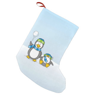 Ausweitende Pinguine Kleiner Weihnachtsstrumpf
