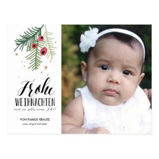 Auswendiges Beeren | Frohe Weihnachten | Postkarte