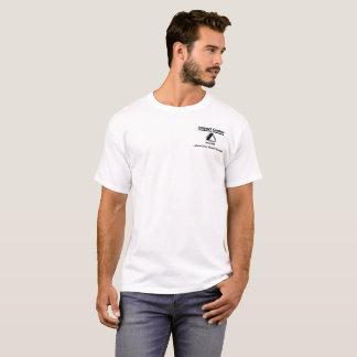 Auswirkung - weißer ursprünglicher Logoentwurf T-Shirt