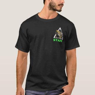 Auswirkungs-Mittelleguantaschenentwurf T-Shirt