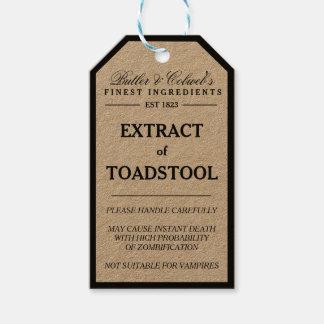 Auszug des Toadstool-Halloween-Apothekerumbaus Geschenkanhänger