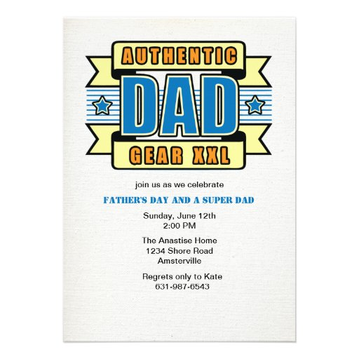 Authentische der Vatertags-Einladung Vati-