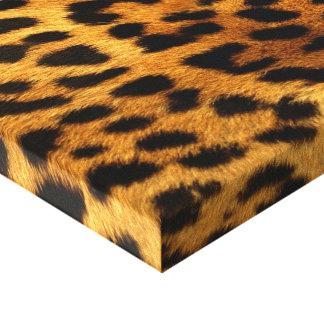 Authentische Leopard-Pelz-Beschaffenheit Leinwanddruck