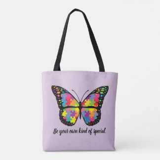 Autism Awareness Butterfly Puzzle Piece Tasche