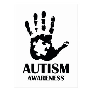 Autismus-Bewusstsein Postkarte