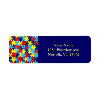 Autismus Bewusstsein-Puzzlespiel durch Shirley