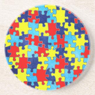 Autismus Bewusstsein-Puzzlespiel durch Shirley Getränkeuntersetzer