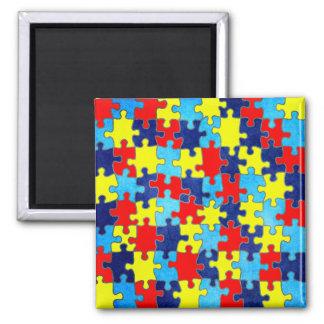 Autismus Bewusstsein-Puzzlespiel durch Shirley Quadratischer Magnet