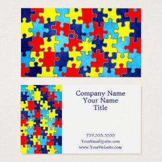 Autismus Bewusstsein-Puzzlespiel durch Shirley Visitenkarte