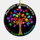 Autismus-Bewusstseins-Baum Keramik Ornament