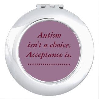 """""""Autismus ist nicht ein auserlesener"""" kompakter Taschenspiegel"""