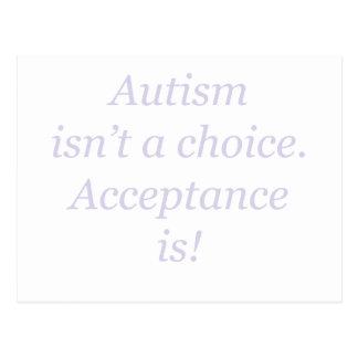Autismus ist nicht… ein auserlesenes postkarte
