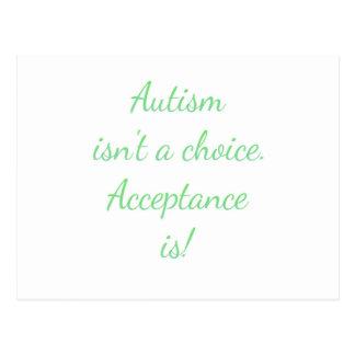 Autismus ist nicht eine Wahl Postkarte