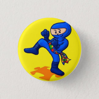 Autismus Ninja Runder Button 3,2 Cm