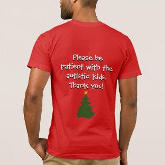 Autismus-Weihnachtsbaum-Shirt (dunkel)