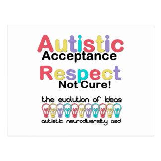Autistische Annahme-Respekt-nicht Heilung Postkarte