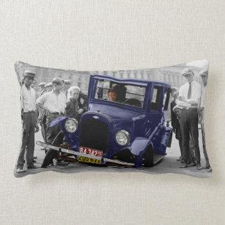 Auto beunruhigt Vintages Foto-Kissen Zierkissen