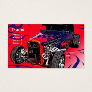 Auto-Flammen Visitenkarte