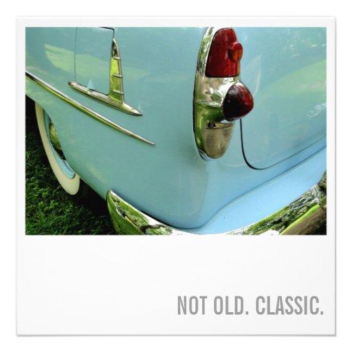 Auto-Liebhaber-50. Geburtstag - nicht alt. Individuelle Einladungen