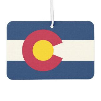 Auto-Lufterfrischer mit Flagge von Colorado, USA Lufterfrischer